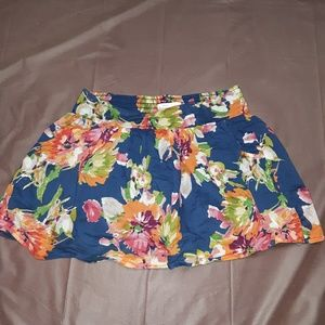💝 aeropostale womens Small blue floral skirt